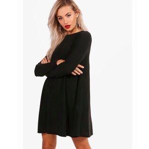 NWT Fine Knit Long Sleeve Swing Dress - 8